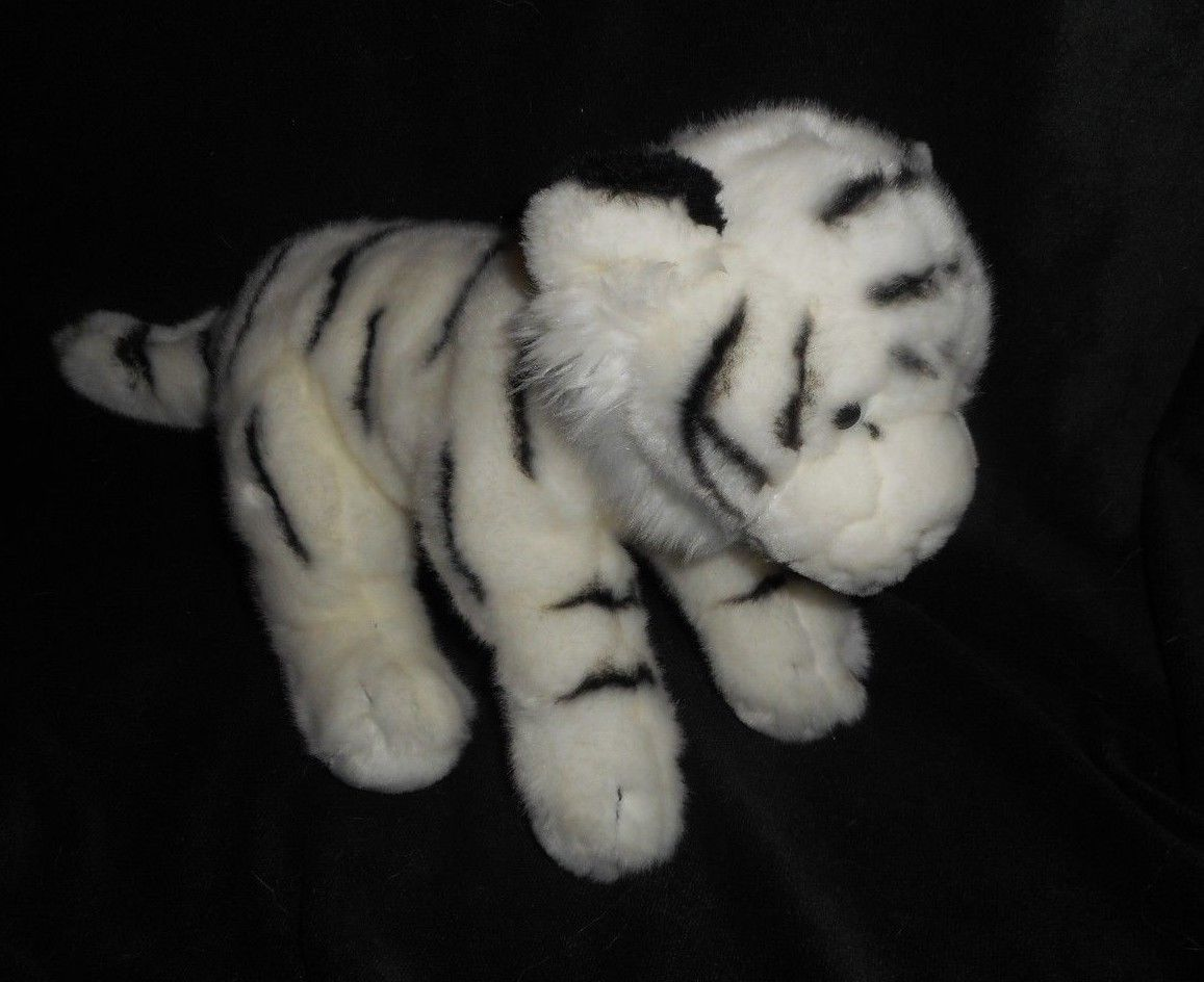 Primary image for 2010 GEOFFREY TOYS R US BLACK WHITE STRIPED TIGER STUFFED ANIMAL PLUSH TOY LOVEY