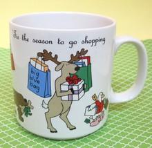 Tis The Season to Go Shopping Christmas Coffee Mug Russ Animals Shopping  - $28.70