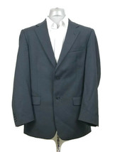 Evan Picone 42L Navy Blue Suit Jacket Sports Coat Blazer Two Button 100%... - $26.23