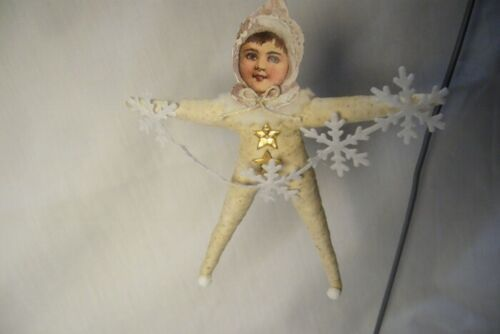 Vintage Inspired Spun Cotton, Winter Sprite Ornament