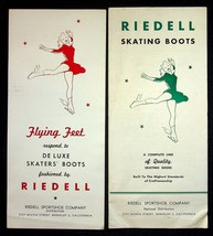 Riedell Skating Boots Lot Of 2 Brochures 1946 Flying Feet Pacemaker Cali... - $8.50