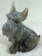 Charlie Scottie Dog Scottish Terrier Charcoal Grey Solid Glass Scotty 5/... - $17.75