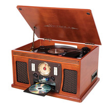 Victrola Stereo Shelf System 3-Speed Record Turntable Built-in Bluetooth... - $182.30