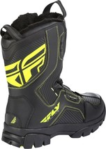 Mens FLY Racing Marker Boa Black/Hi Viz Size 10 Snowmobile Winter Boots -40 F image 2