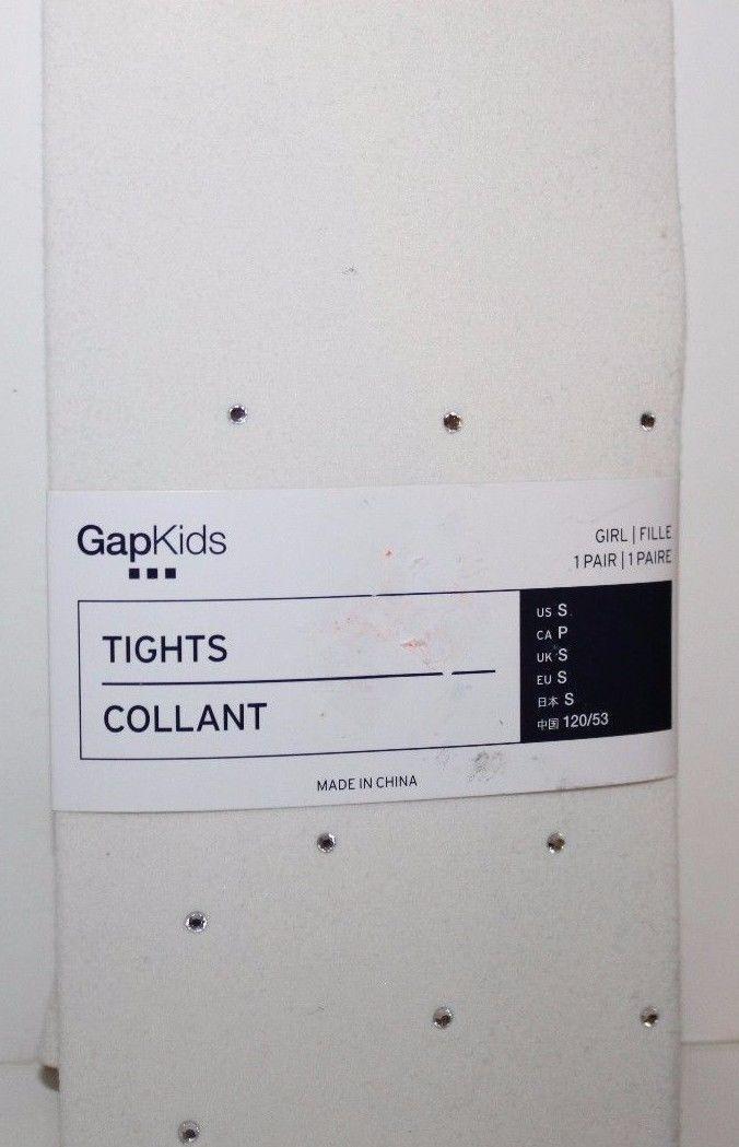 Gap Kids NWT Girl's Ivory Tights w/ Rhinestones