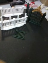 Dept 56 Misc Fence Pcs and metal Gate - $3.67