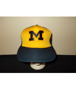 VTG-1980s Michigan Wolverines university trucker rope hat sku6 #truckerhats - $37.18
