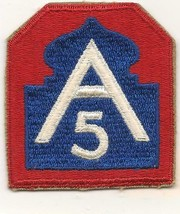 Original WWII 5th Army Patch - $4.99
