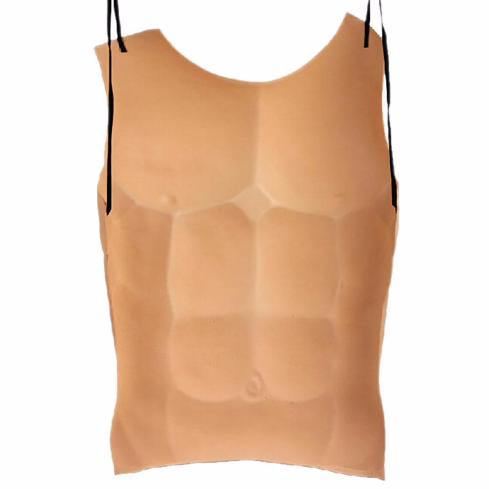 Man Fake Muscle Simulation Mask Halloween Belly Artificial Chest Costume Dress