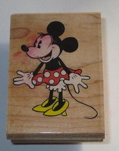 Classic Minnie Mouse Rubber Stamp Retro Polka Dot Skirt Disney High Heel... - $9.89