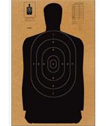 12 Pack - Full Size Standard B-27 Cardboard Target Silhouette (Black) 24... - $46.43