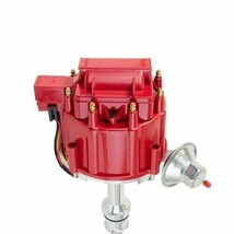 SBF Ford Small Block 351W Windsor HEI Ignition Red Cap Distributor 65K Coil image 2
