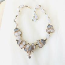 Rare Vintage Marnier Jewels by Julio Gripoiux Poured Art Glass Heart Nec... - $245.00
