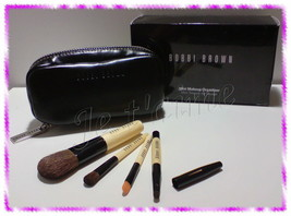 NIB Bobbi Brown Mini Makeup Organizer 4pcs Brush Set, Eye Shadow/Blush/L... - $64.99