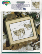 Color Charts Cross Stitch Pattern-Great White Wolves By Deborah Campbell - $5.86
