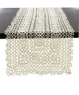 "Fennco Styles Handmade All-over Tatting Lace Tablecloth 100% Cotton (16""... - $26.72"
