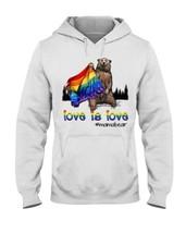 LGBT Pride Love Is Love Mama Bear Hoodie Sport Grey M - 3XL - $34.00+