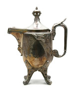Aesthetic Period Movement Silverplated Coffee Tea Pot Reed Barton Birds U18 - $98.21