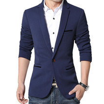 Men Slim Fit Business Dress Suits Jacket 5 Colors Plus SIze 5XL - €34,50 EUR