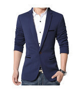 Men Slim Fit Business Dress Suits Jacket 5 Colors Plus SIze 5XL - $39.00