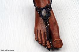 Anklets Macrame stones Labradorite stone Anklet Healing Stone Spiritual ... - $18.00