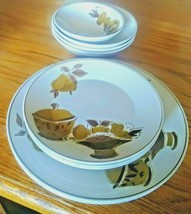 Mikasa FOCUS SHAPE Mocha Lot of 12 dinner and salad plates cereal bowls - $33.65