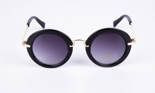 UV Lens Shades Boys Girls Kids Glasses Round Retro Alloy Children Glasses