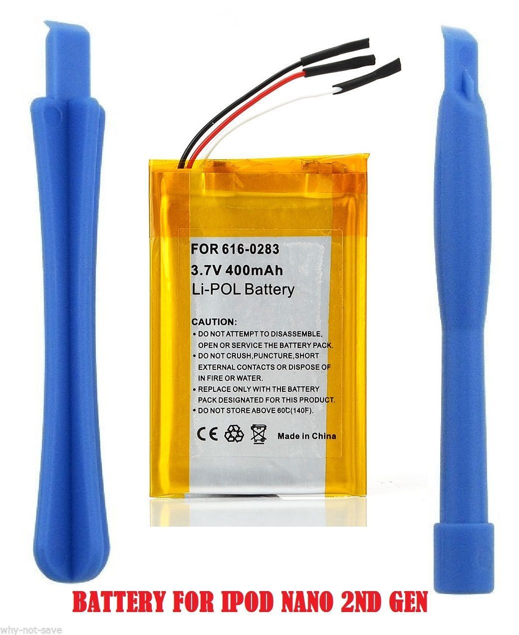Primary image for Replacement internal battery for ipod Nano 2 2ND 2G Gen A1199 2GB 4GB 8GB + Tool