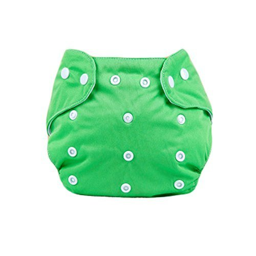 Cute Baby Diaper Cover One Size Diaper Cover with Snap Closure (3-13KG,Green)