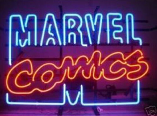 "New Marvel Comics Bar Pub Lamp Light BEER Neon Sign 24""x20"""