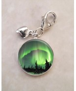 Aurora Borealis Northern Lights .925 Sterling Silver Charm - $30.50+