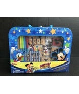 Mickey & The Roadster Racers Art & Stamp Set In Carry Case 35 Total Piec... - $14.99