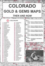 Colorado Gold & Gems Maps - Then and Now - $15.95