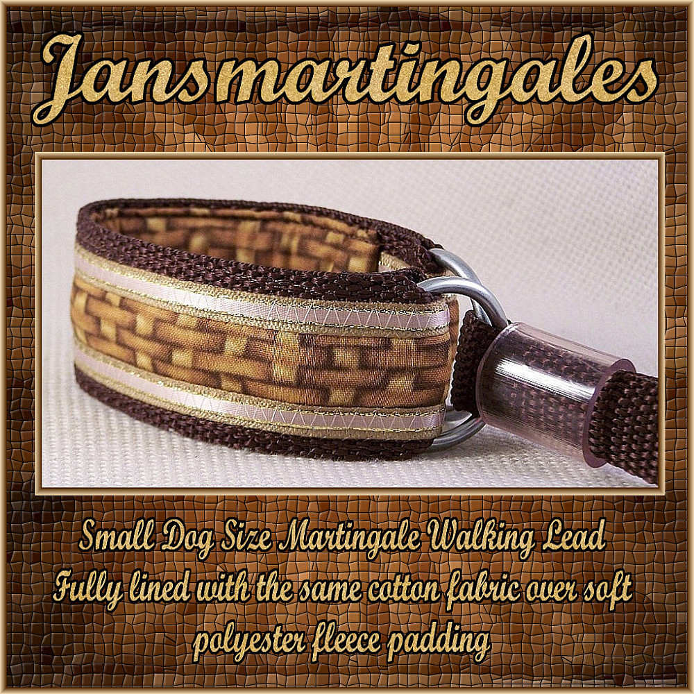 Jansmartingales, Martingale Collar/Leash Combination, Small Dog Size, ibrn023
