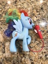 Hasbro My Little Pony MLP Singing Rainbow Dash Karaoke Mic Microphone Fi... - $14.85