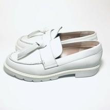 Stuart Weitzman Women's Size 6.5 Tassel Loafer Flat Off white Cush Nappa - $256.41
