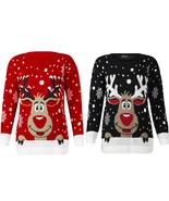 Women Christmas Deer Warm Knitted Long Sleeve Sweater Jumper Top Blouse - $49.98