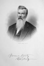 ROBERT McKELLY Ohio Railroad Director & Senator - SUPERB Portrait 1883 Print image 1