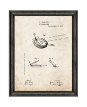 Waffle Iron Patent Print Old Look with Black Wood Frame - $24.95+