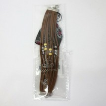 Paparazzi Colorfully Coachella Yellow Urban Bracelet Brown Suede with Beads New - $4.99