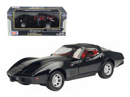 1979 Chevrolet Corvette Black 1/24 Diecast Car Model by Motormax - $29.95