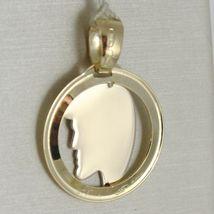 Anhänger Medaille Gelbgold Weiß 750 18k, Gesicht von Christus, Krone Steckern image 3