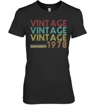 40th Birthday Gift Vintage 1978 Year 70s 40 Years Old Shirt - $19.99+