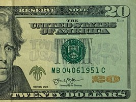 $20 20 dollars Birthday Anniversary Currency Note April 04-06-1951 04061951