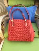 NWOT/COACH/MADISON/GATHERED LEATHER/TWIST/CORAL - $300.00