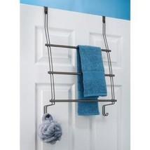 Door Towel Holder Bar 3 Tier Rack Storage Bathr... - $24.05