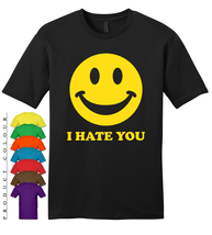 I Hate You Smiley Mens Gildan T-Shirt New - $19.50