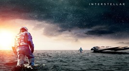 "Interstellar Movie Poster on Silk Fabric Canvas 43"" x 24"" - $15.99"