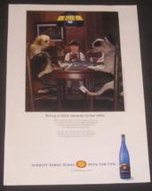 Schmitt Riesling Wine, 2006 Magazine Ad, Card Game, Basset Hound & Littl... - $8.00