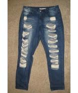 Iris Jeans Distessed Denim Capri Jeans Size 7 - $17.14